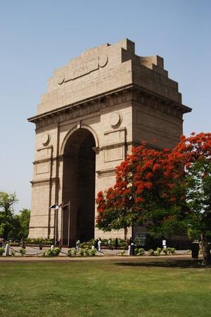 india gate: War memorial in a city, India Gate, Delhi, India Editorial