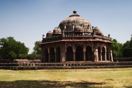 khan: Low angle view of a tomb, Isa Khans Tomb, Delhi, India