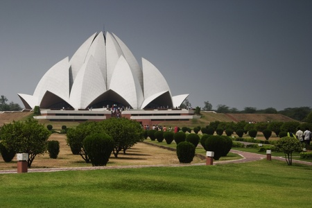 Architectural details of a temple, Lotus Temple, New Delhi, India