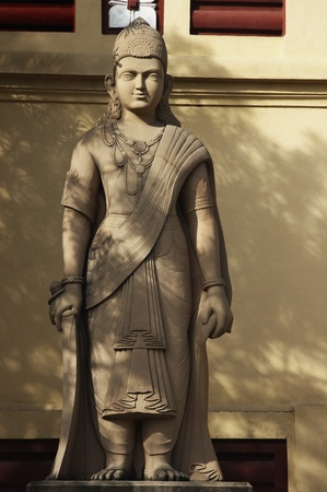 female likeness: Statue at a temple, Lakshmi Narayan Temple, New Delhi, India