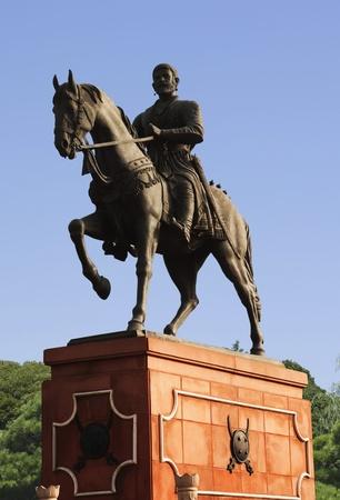 male likeness: Estatua de Shivaji, Agra, Uttar Pradesh, India