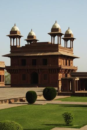 Facade of a palace, Diwan-I-Khas, Fatehpur Sikri, Agra, Uttar Pradesh, India photo