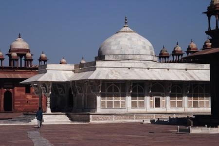 fatehpur sikri: Facade of a mausoleum, Tomb Of Sheikh Salim Chisti, Fatehpur Sikri, Agra, Uttar Pradesh, India Stock Photo