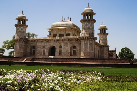 mausoleum: Facade of a mausoleum, Itmad-ud-Daulahs Tomb, Agra, Uttar Pradesh, India Stock Photo