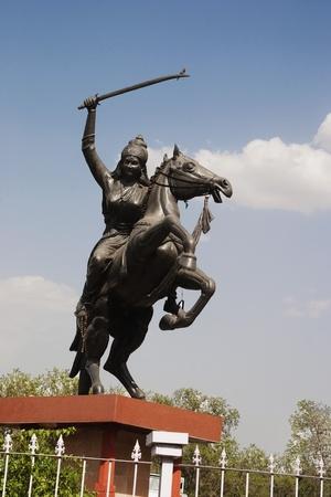 uttar pradesh: Statue of Rani Laxmi Bai, Agra, Uttar Pradesh, India Editorial
