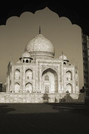 Facade of a mausoleum, Taj Mahal, Agra, Uttar Pradesh, India photo