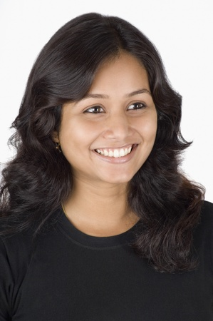 Close-up of a woman smiling photo