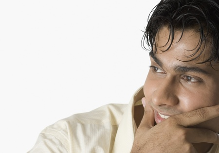 Close-up of a man smiling Stock Photo