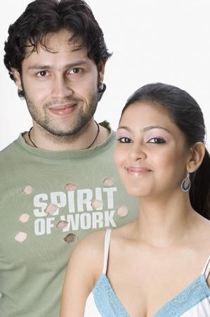 Portrait of a couple smiling photo