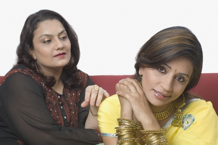 Woman consoling her daughter Stock Photo - 10206523