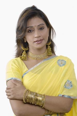 Portrait of a woman wearing a sari Standard-Bild