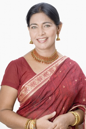 Portrait of a woman wearing a sari Stock Photo - 10205882