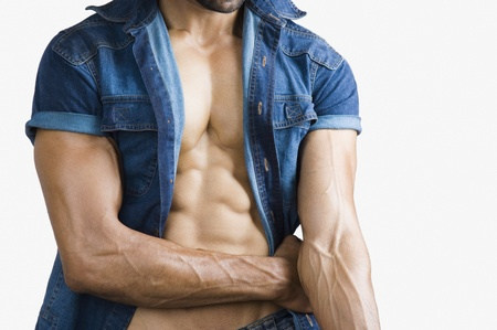 Close-up of a macho man photo