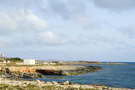 placidness: Panoramic view of a coastline, Malta