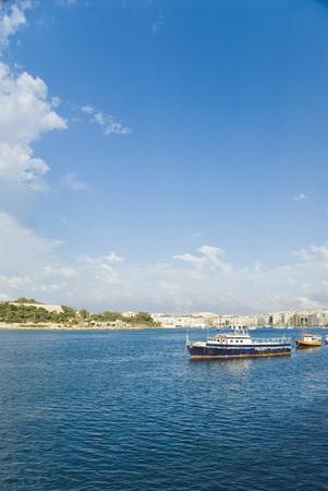 Ships in the sea, Malta photo