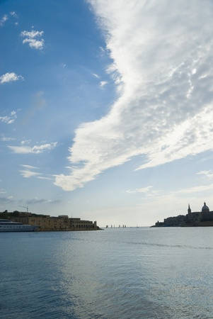 placidness: Buildings at the waterfront, Valletta, Malta