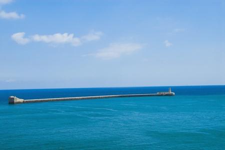 placidness: Lighthouse in the sea, St.Elmo Lighthouse, Grand Harbor, Valletta, Malta