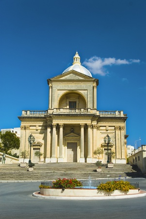 Facade of a church, Malta