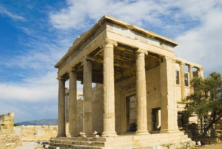 Colonnade of an ancient temple, The Erechtheum, Acropolis, Athens, Greece photo