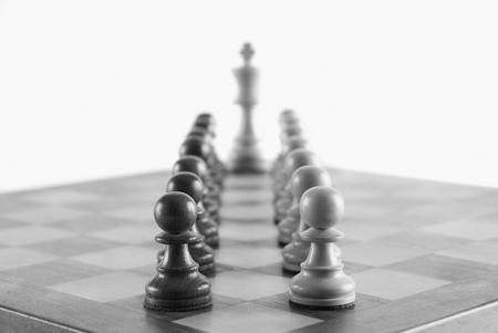 competitividad: Ajedrez rey con su rey