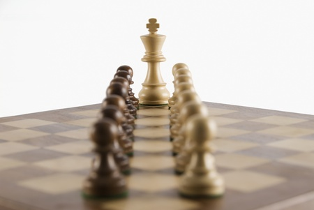 Chess king with its king photo