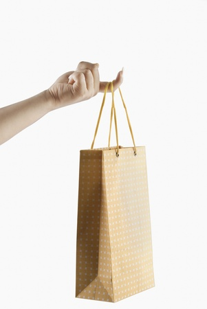 photosindia: Close-up of a womans hand holding a shopping bag