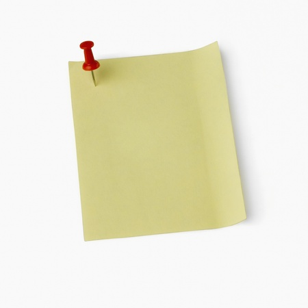 communicated: Thumbtack on an adhesive note