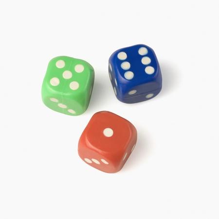 Close-up of three dices photo