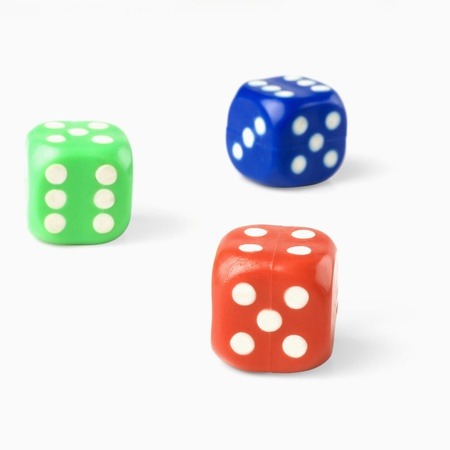 photosindia: Close-up of three dices
