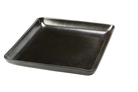 Close-up of a black empty tray photo