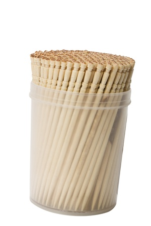 Close-up of toothpicks in a container photo