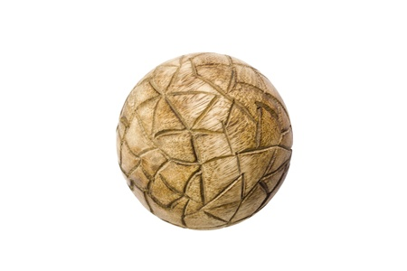 showpiece: Close-up of a decorative wooden ball Stock Photo