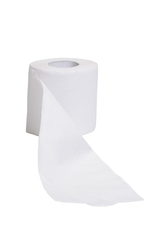 Close-up of a toilet paper roll photo