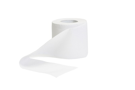 Close-up of a toilet paper roll Stock Photo