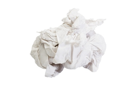 crumpled paper: Close-up of crumpled toilet paper