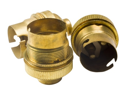 bronz: Close-up of bulb holders Stock Photo