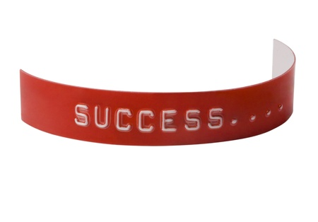 peo: Close-up of word Success on a label Stock Photo
