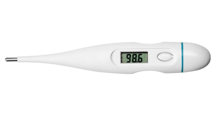 Close-up of a digital thermometer