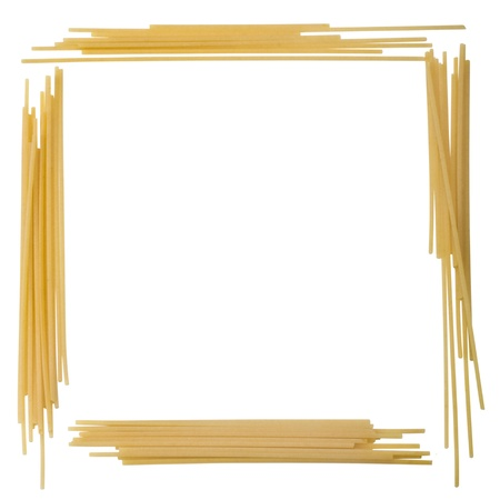 rectangle: Close-up of a rectangle made from noodles Stock Photo