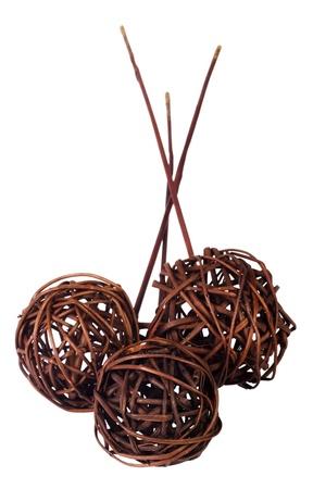 showpiece: Close-up of wicker balls