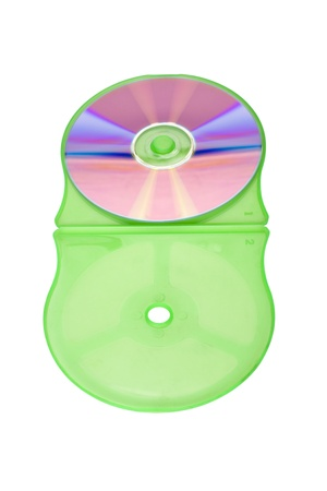 cd case: Close-up of a compact disc in a CD case Stock Photo