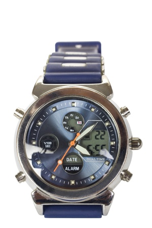 getting late: Close-up of a wristwatch