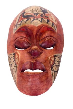 maschera tribale: Primo piano di una maschera tribale