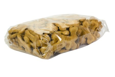 Close-up of a packet of dog biscuits photo