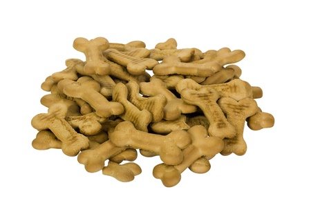 Close-up of a heap of dog biscuits photo
