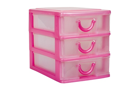 drawers: Close-up of plastic drawers