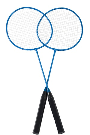 badminton racket: Close-up of two badminton rackets