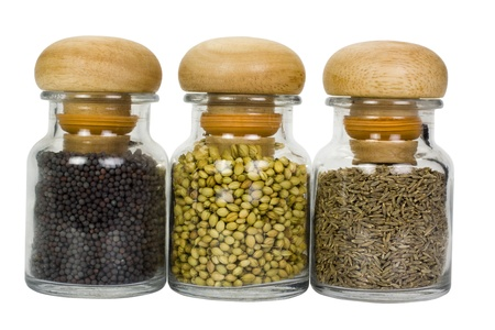 Close-up of spice containers Stock Photo - 10238562