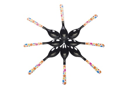 Star shape made from spoons photo