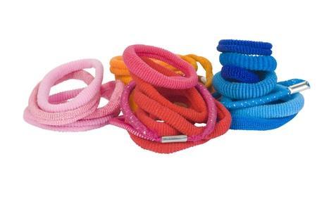 headbands: Primer plano de una variedad de cintas para la cabeza Foto de archivo